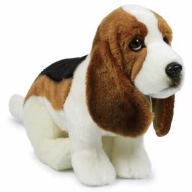 Anna club pluche basset hond knuffel 30 cm