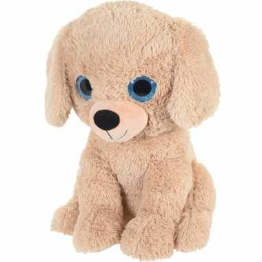 Beige hond/honden dierenknuffel van pluche 50 cm