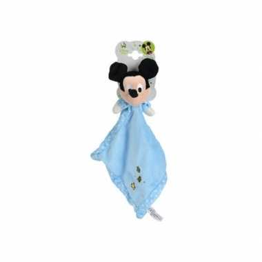 Blauw mickey mouse knuffeldoekje