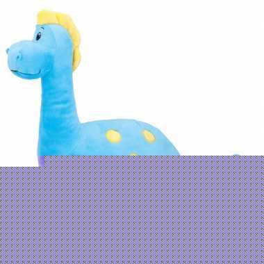 Blauwe dinosaurus knuffel brontosaurus 37 cm