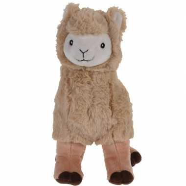 Bruine pluche alpaca/lama knuffel 30 cm