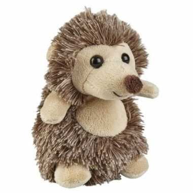 Bruine pluche egel knuffel 12 cm speelgoed