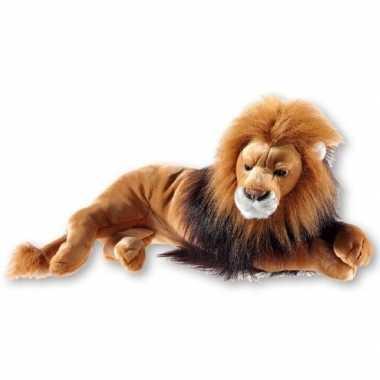 Bruine pluche liggende leeuwen knuffel 54 cm