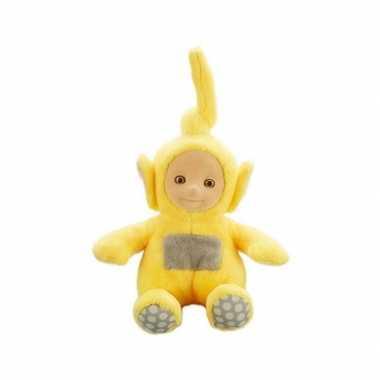 Gele teletubbie laa laa knuffel/pop met geluid 20 cm