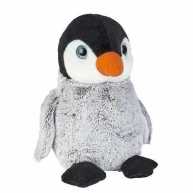 Grijze pluche baby pinguin knuffel 30 cm speelgoed