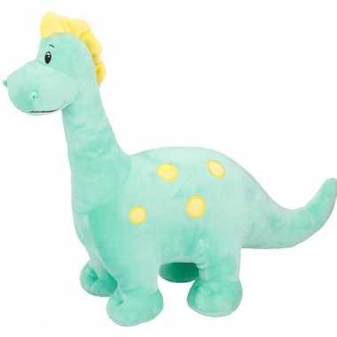 Groene dinosaurus knuffel brontosaurus 37 cm