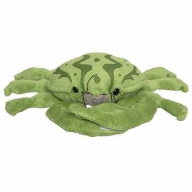 Groene pluche krab knuffel 25 cm