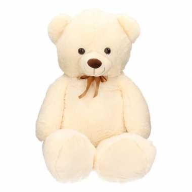 Grote beren knuffel beige 100 cm