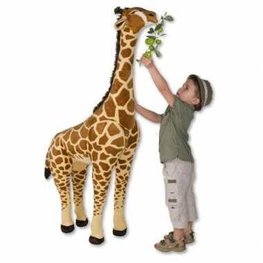 Grote bruine giraffe knuffel 150 cm