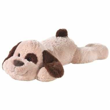 Grote bruine pluche hond knuffel 120 cm