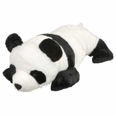 Grote knuffel panda liggend 76 cm
