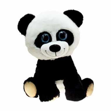 Grote pandabeer knuffel zittend 80 cm