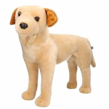 Grote pluche blonde labrador hond staand knuffel 53 cm speelgoed