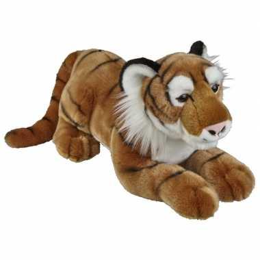 Grote pluche bruine tijger knuffel 50 cm speelgoed