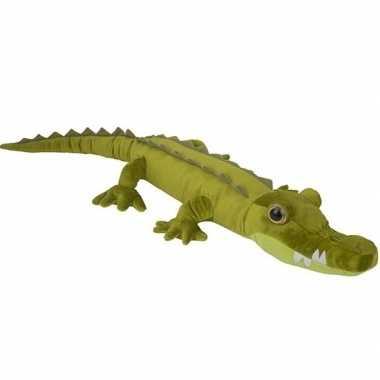 Grote pluche groene krokodil knuffel 110 cm speelgoed