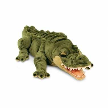 Grote pluche knuffel alligator/krokodil van 46 cm