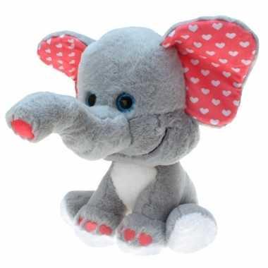 Grote pluche knuffel dier olifant van 80 cm