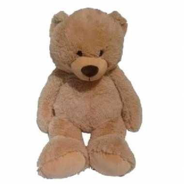Grote pluche lichtbruine beer bas knuffel 100 cm