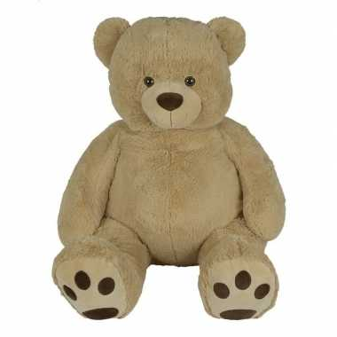 Grote pluche lichtbruine beer buddy knuffel 135 cm