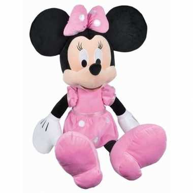 Grote pluche minnie mouse knuffel 80 cm