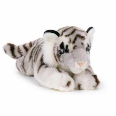 Grote pluche witte tijger knuffel 46 cm speelgoed