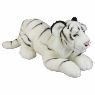 Grote pluche witte tijger knuffel 50 cm speelgoed
