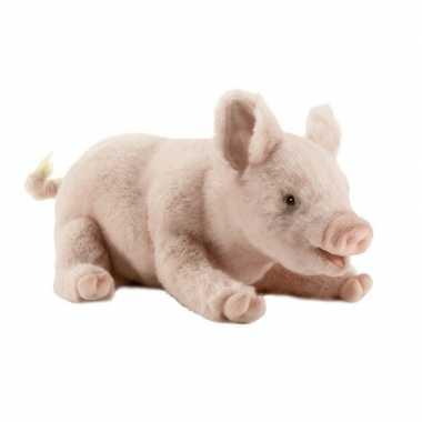 Hansa pluche big/varken knuffel liggend 28 cm