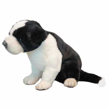 Hansa pluche border collie pup knuffel 25 cm