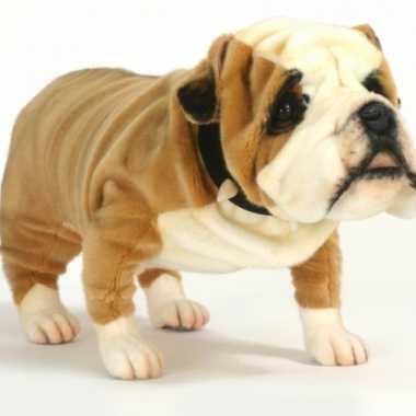 Hansa pluche engelse bulldog knuffel 75 cm