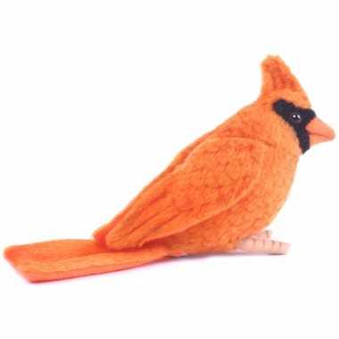 Hansa pluche kardinaal vogel knuffel 9 cm