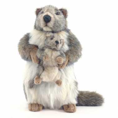 Hansa pluche marmot knuffel 35 cm