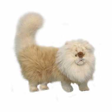 Hansa pluche perzische kat knuffel beige 45 cm