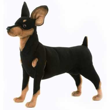 Hansa pluche pincher hond knuffel 43 cm