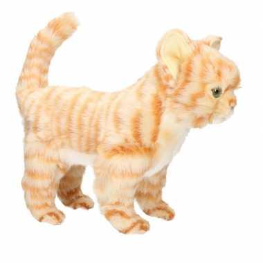 Hansa pluche rode kitten poes kat knuffel 30 cm