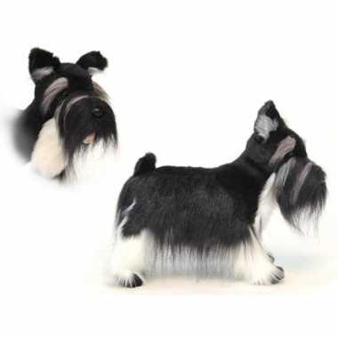 Hansa pluche schnauzer hond knuffel 45 cm