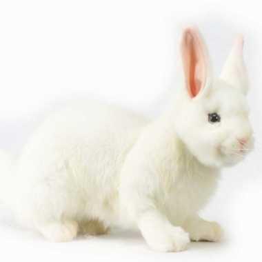 Hansa pluche sneeuw konijn knuffel 47 cm