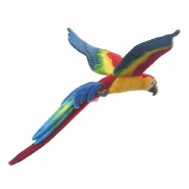 Hansa pluche vliegende papegaai knuffel 56 cm