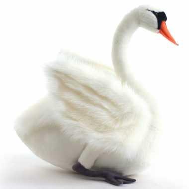Hansa pluche witte zwaan knuffel 27 cm