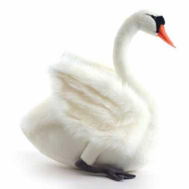 Hansa pluche witte zwaan knuffel 45 cm