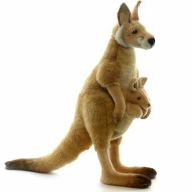 Hansa rode kangaroe knuffel 43 cm