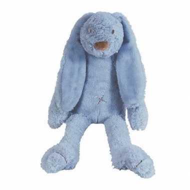 Happy horse donkerblauw pluche konijn knuffel richie
