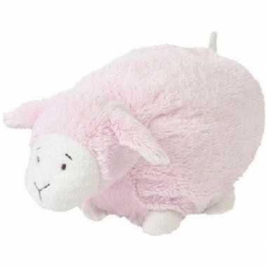 Happy horse roze liggend/staand pluche lammetje knuffel 26 cm