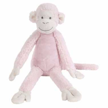 Happy horse roze pluche knuffel aap mickey 32 cm