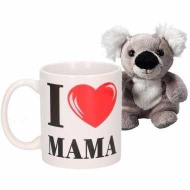I love mama mok met koala knuffel