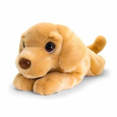 Keel toys grote pluche bruine labrador honden knuffel 47 cm