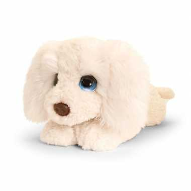 Keel toys grote pluche witte labradoodle honden knuffel 47 cm