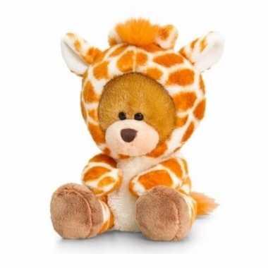 Keel toys pluche beer knuffel in giraffe onesie 14 cm