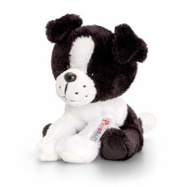 Keel toys pluche border collie hond knuffel 14 cm
