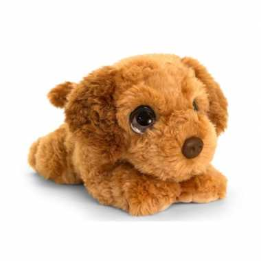 Keel toys pluche bruine cockapoo honden knuffel 37 cm