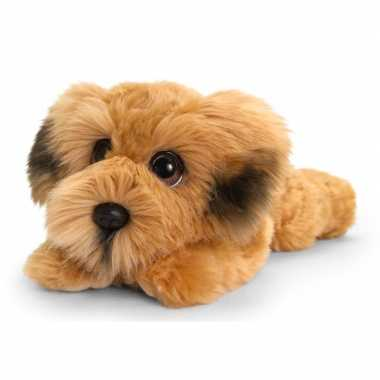 Keel toys pluche bruine ierse terrier honden knuffel 25 cm